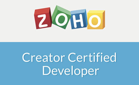 Soft Skills named Zoho Creator Certified Developer
